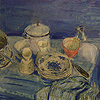 Evelyn Rowat - Table Setting in Blue Wash